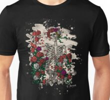 Skeleton & Roses - bleached look Unisex T-Shirt
