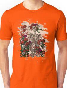 Skeleton & Roses - bleached look Unisex T-Shirt
