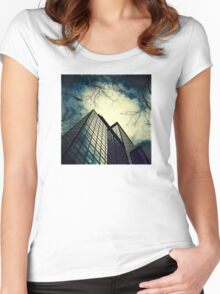 Eagle above the City Women's Fitted Scoop T-Shirt