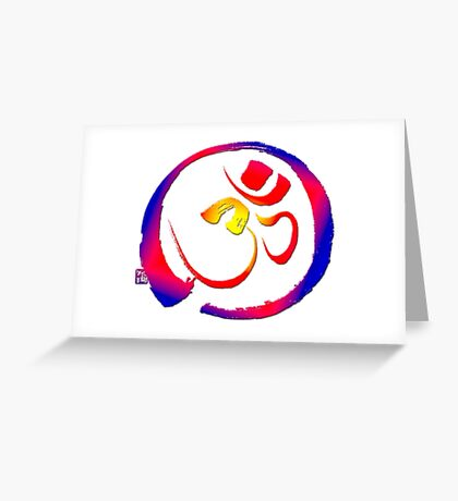 Aum - Om with Enso Zen-circle  Greeting Card