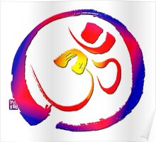 Aum - Om with Enso Zen-circle  Poster