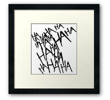 Jared Leto's Joker laugh Framed Print