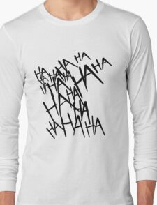 Jared Leto's Joker laugh Long Sleeve T-Shirt