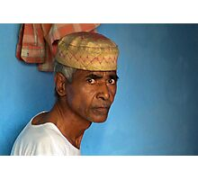 Portrait of a Man in Charminar Photographic Print