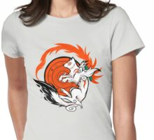 White Wolf Goddess Womens Fitted T-Shirt