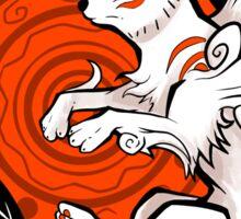 White Wolf Goddess Sticker
