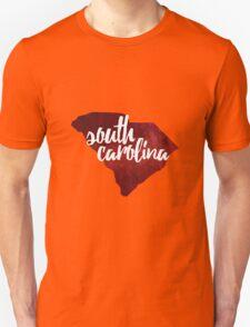 South Carolina - red watercolor Unisex T-Shirt