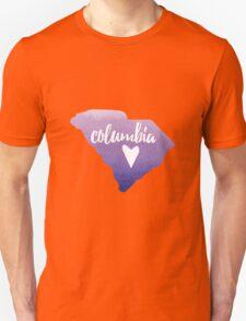 Columbia, South Carolina - purple watercolor  Unisex T-Shirt