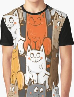 Pattern with cats. Graphic T-Shirt
