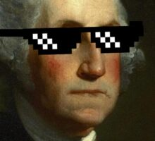George Washington Deal With It Sticker