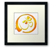 Om - Aum with Enso zen circle Framed Print