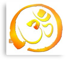 Om - Aum with Enso zen circle Metal Print