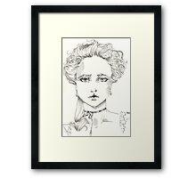 rococo girl, Marie Antoinette Framed Print