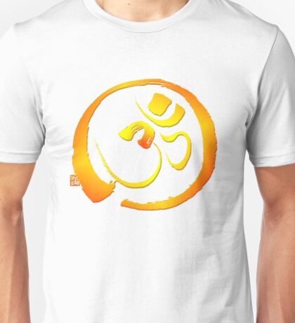 Om - Aum with Enso zen circle Unisex T-Shirt