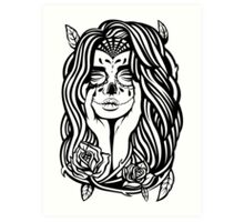 Day Of The Dead [BNW] Art Print