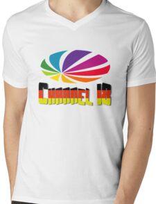 Channel 18 Mens V-Neck T-Shirt