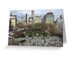 Aerial View, Union Square, New York City Greeting Card