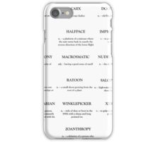A-Z of Unusual Words iPhone Case/Skin