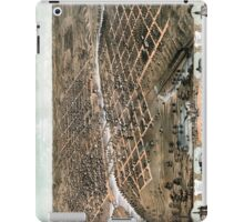 Bird's eye view of the city of Des Moines - Iowa - 1868 iPad Case/Skin
