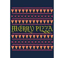 Merry Pizza Photographic Print
