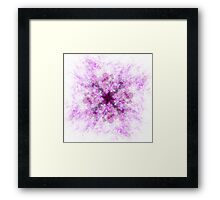 Pink and Purple Abstract Flower Art Framed Print