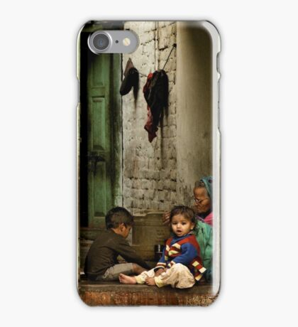 Sister with Brother and Grandmother iPhone Case/Skin