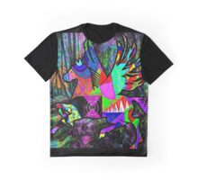Dancing horse in the dark forest of the soul Graphic T-Shirt