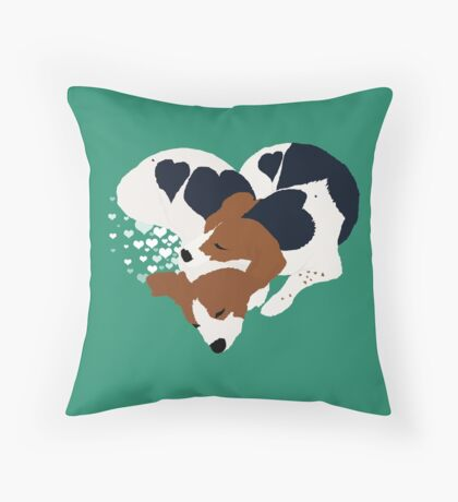 Love Pups Throw Pillow