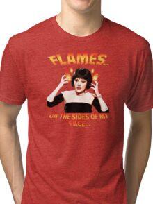 Clue Mrs White Flames Tri-blend T-Shirt
