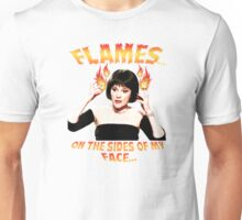 Clue Mrs White Flames Unisex T-Shirt