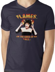 Clue Mrs White Flames Mens V-Neck T-Shirt