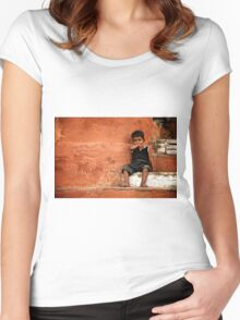 Red Wall Women's Fitted Scoop T-Shirt