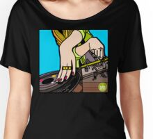 SHE SCRATCHES TO THE BEAT Women's Relaxed Fit T-Shirt
