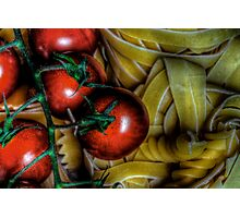 Pasta & Tomatoes Photographic Print