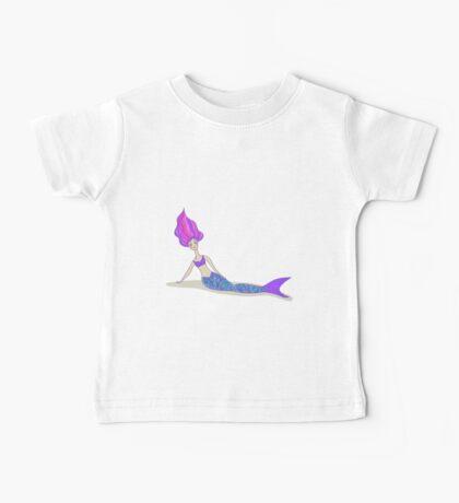 Cute cartoon mermaid in vivid colors  Baby Tee