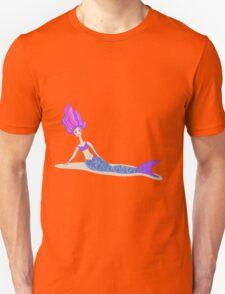 Cute cartoon mermaid in vivid colors  Unisex T-Shirt