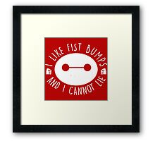 I like Fist Bumps and i cannot lie Framed Print