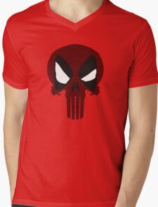 DEAD PUNISHER Mens V-Neck T-Shirt
