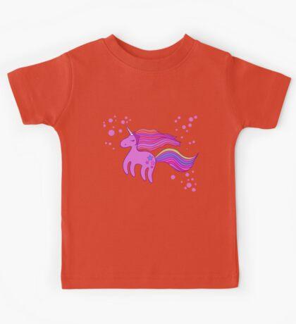 Cute cartoon unicorn in pink colors Kids Tee