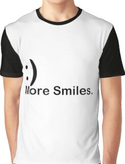 'More Smiles' Do it for the World Graphic T-Shirt