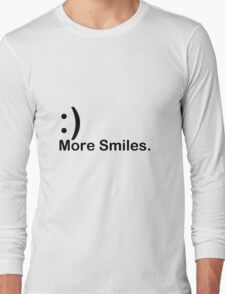 'More Smiles' Do it for the World Long Sleeve T-Shirt