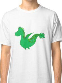 Cute cartoon dragon flying. Classic T-Shirt