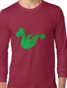 Cute cartoon dragon flying. Long Sleeve T-Shirt