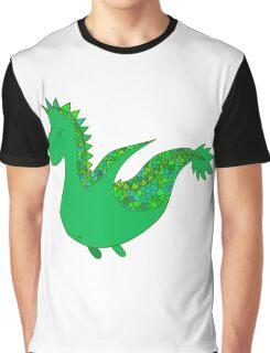 Cute cartoon dragon flying. Graphic T-Shirt