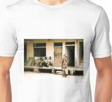 Three Men and a Sari Unisex T-Shirt