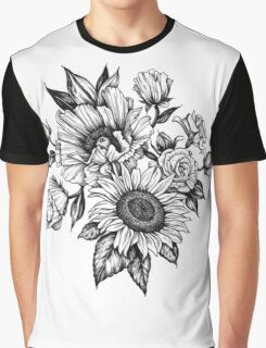 flowers in ink Graphic T-Shirt