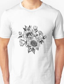 flowers in ink Unisex T-Shirt