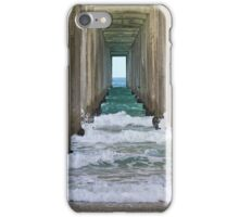 Waves of the Pacific under San Diego pier iPhone Case/Skin