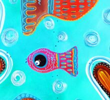 Quilted Fish Sticker