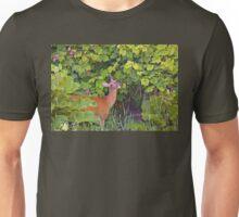 Deer Nibbling Wildflowers 2 Unisex T-Shirt